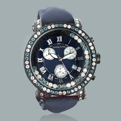 Luxury Benny Watches: Mens Floating Diamond Watch 7.50ct