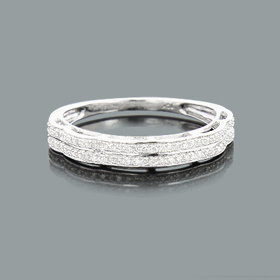 Thin Mens Diamond Wedding Band 0.25 10K Gold