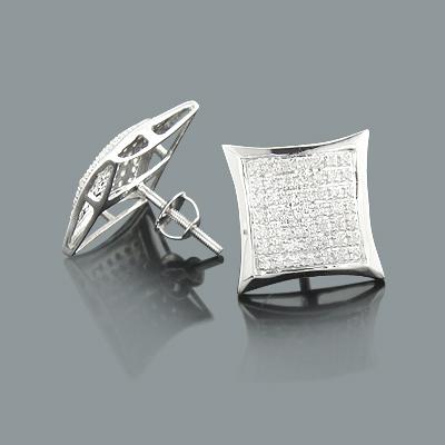 Natural Diamond Stud Earrings 0.36ct 10K Gold