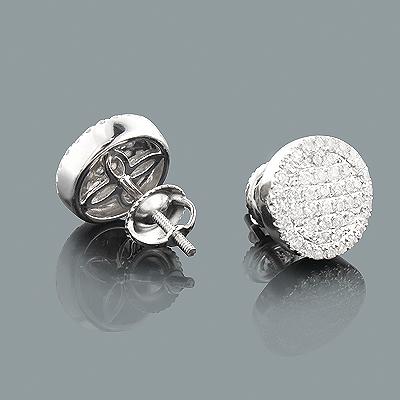 Pave Diamond Earrings 0.77ct 14K Gold