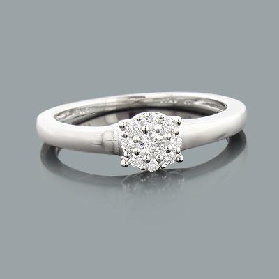 Promise Rings Under 300 - Pre-Engagement Diamond Ring 0.18ct 10K