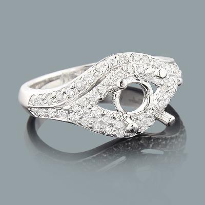 Round Diamond Engagement Ring Setting 0.64ct 14K Gold