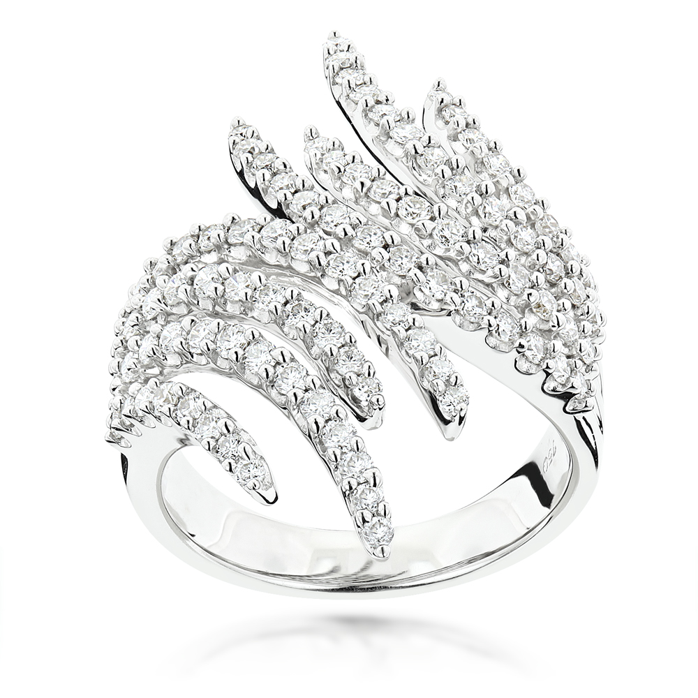 Round Diamond Right Hand Ring 1.17ct 18K Gold