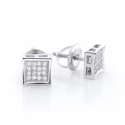 Sterling Silver Diamond Stud Earrings 0.25ct